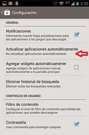 Actualizaciones automáticas Blackberry
