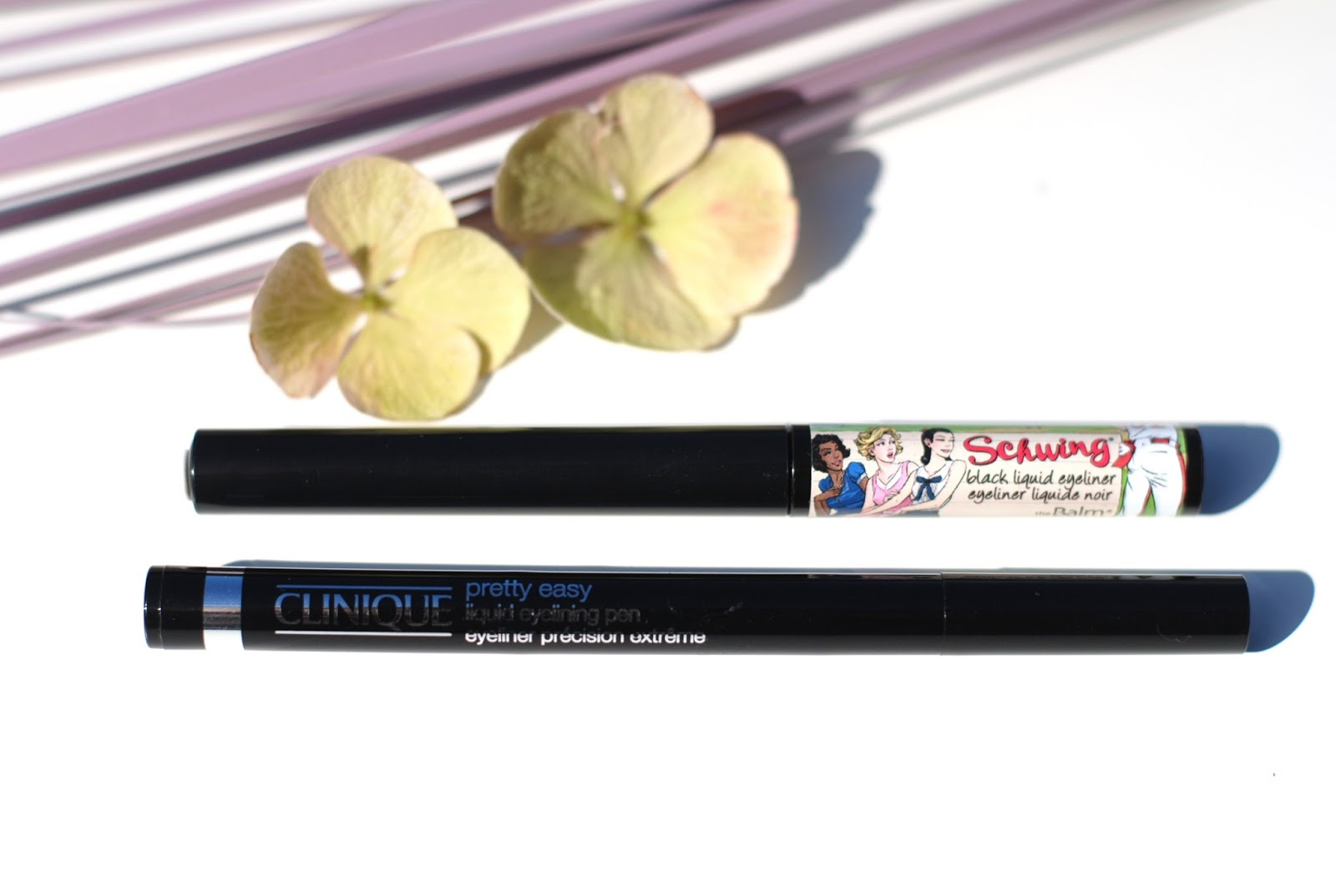 clinique pretty easy liquid eyelining pen the balm schwing
