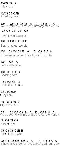 Flute Sheet Music: Chasing Cars