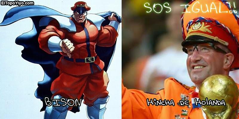 Sos Igual! Bison vs Hincha de Holanda