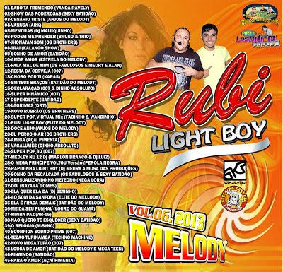 cd rubi light boy melody vol 06 (dj.s mauro e mauricio do studio 2 irmãos e fabricio incomparavel)