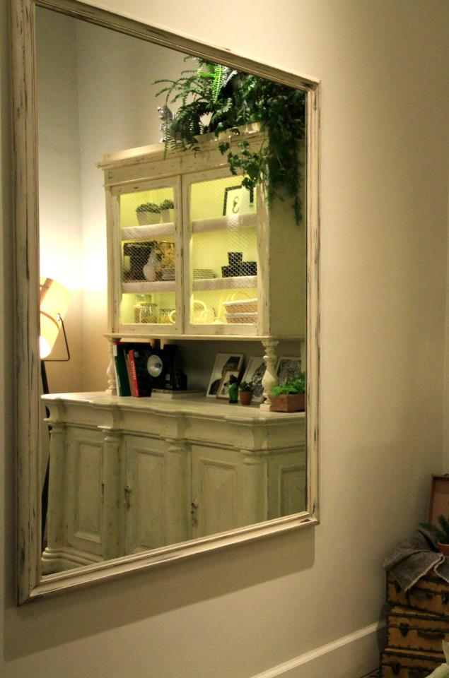 Dise o interior muebles shabby chic espejo - Muebles shabby chic online ...