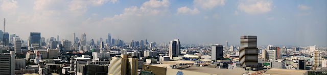 panoramic view of the Bangkok skyline