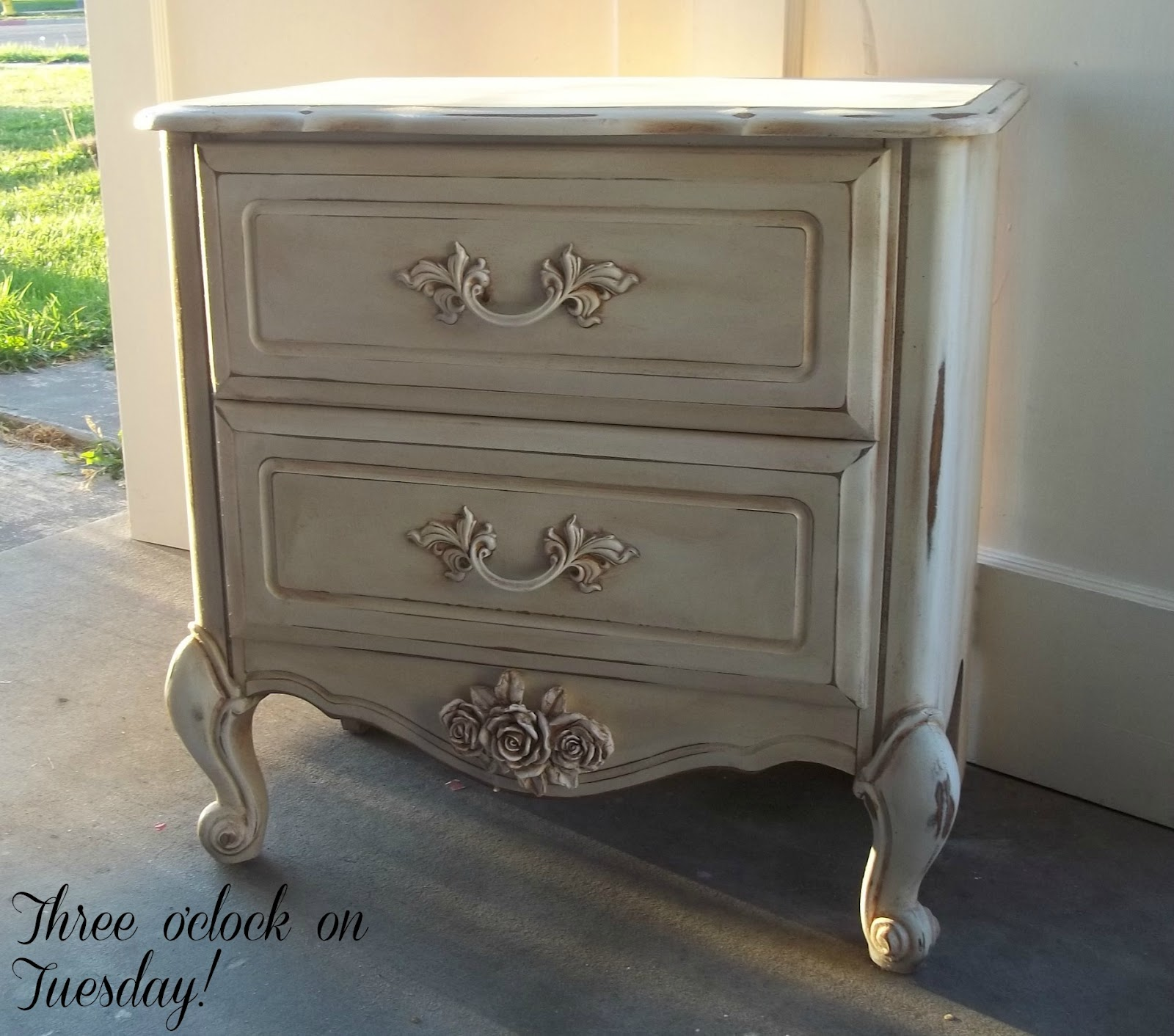 Sold Beautiful shabby-chic nightstand!
