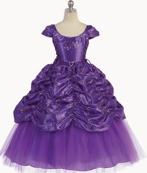 Vestido de Niña de las Flores, Purpura