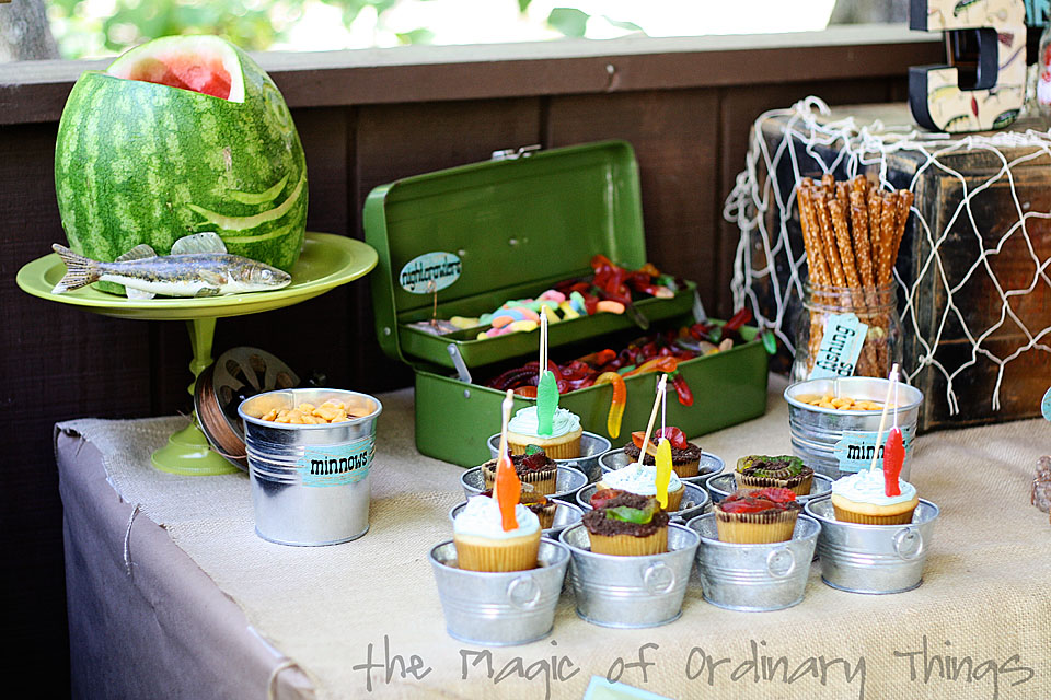 The magic of ordinary things gone fishing for Fishing party ideas