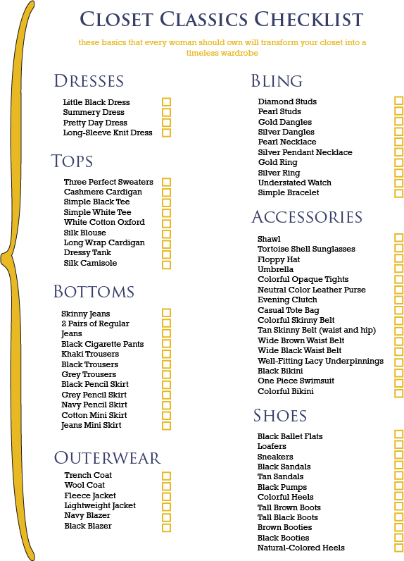 Wardrobe women over 50 basics new style for 2016 2017 Fashion style categories list