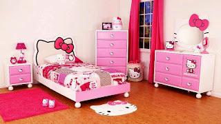 Contoh Desain Kamar Cantik Anak Perempuan Hello Kitty