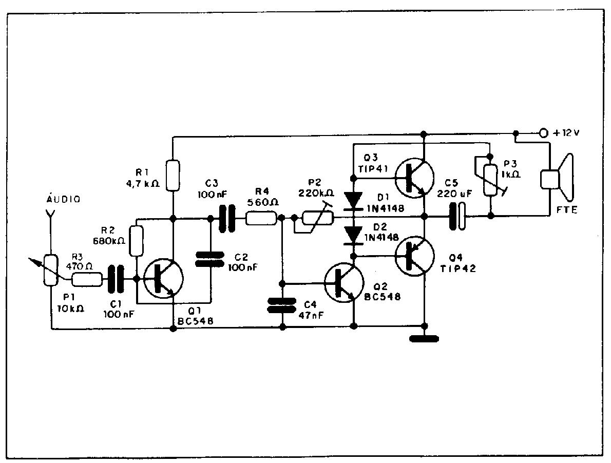 eletr u00f4nico  circuitos amplificadores de  u00c1udio