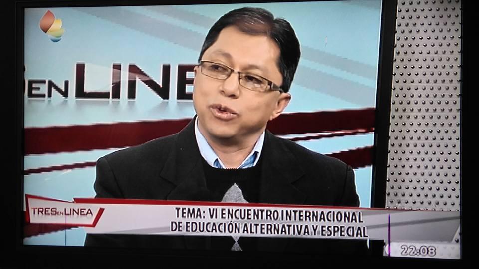 En programa de televisión en Bolivia