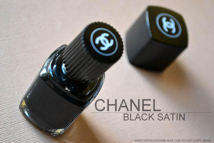 Chanel Le Vernis Nail Polish Black Satin 219 Indian Makeup Beauty Blog Darker Skin Review Photos NOTD Swatches