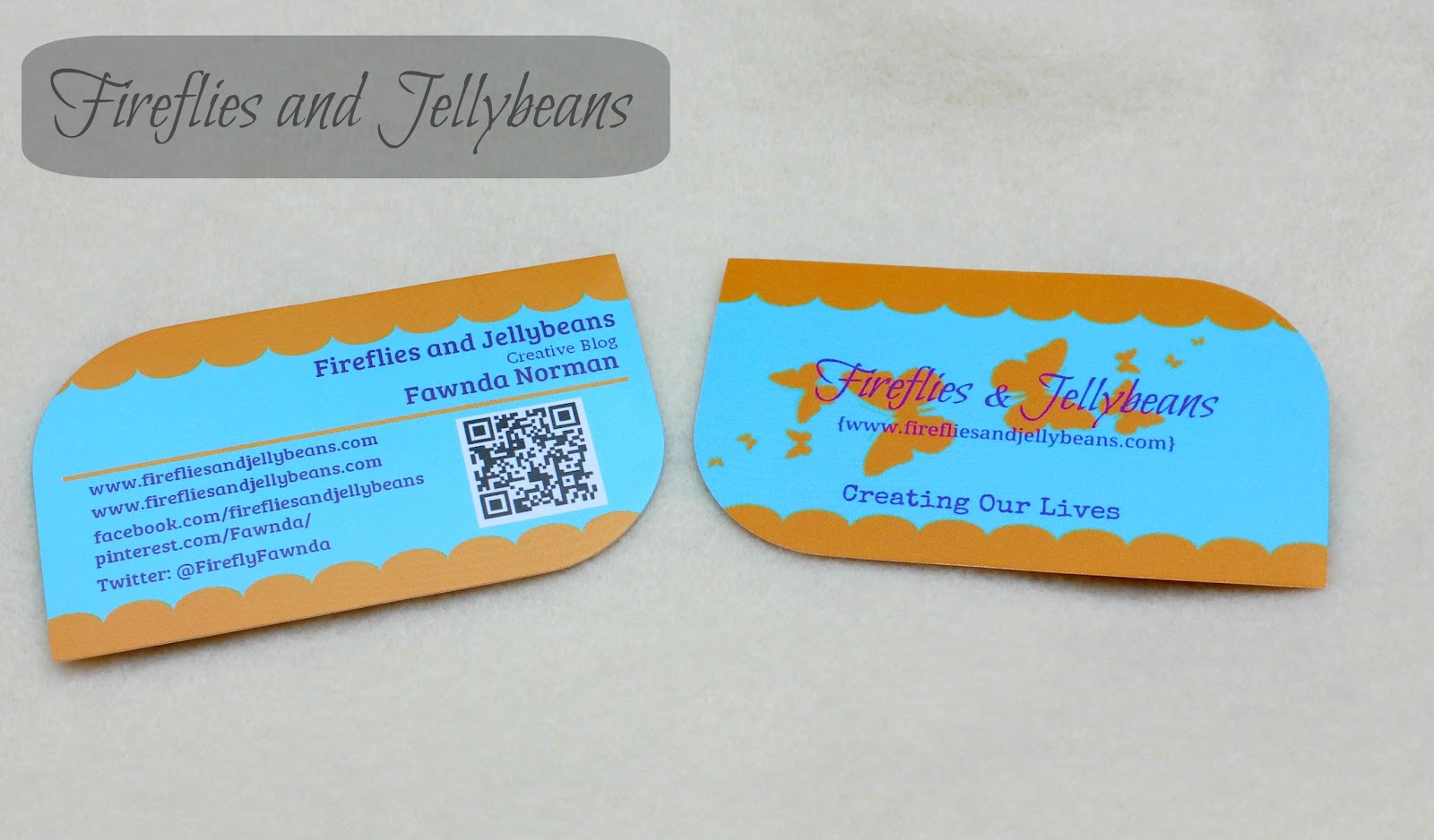 Fireflies and jellybeans i am official with uprinting for Uprinting business cards