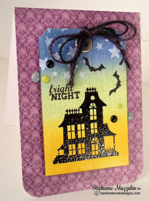Haunted House Halloween card by Stephanie Muzzulin for Newton's Nook Designs | Spooky Street Stamp Set