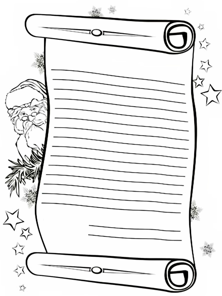 Letter To Santa Claus Color Search Results Calendar 2015 Letter To Santa Coloring Page