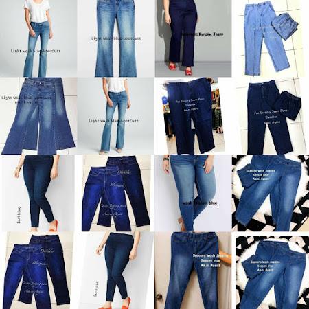 Jom dapatkan pelbagai koleksi jeans plus size pun ada