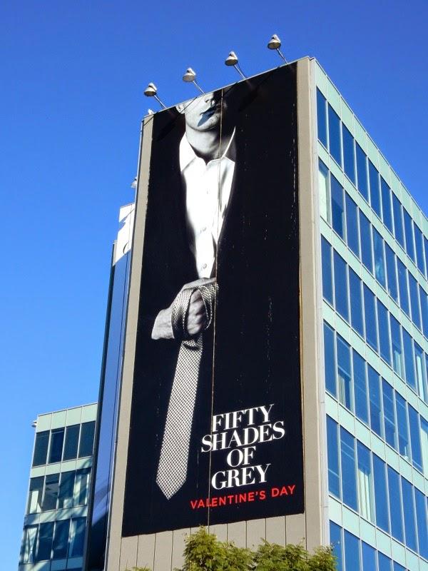 Giant Fifty Shades of Grey movie billboard