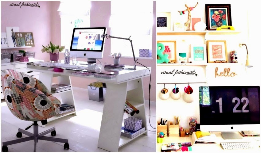 Visual fashionist arredare un piccolo studio in casa for Idee ufficio ikea