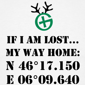 If I am lost... *your own coordinates*