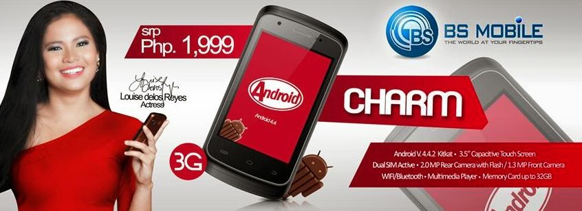 BS Mobile Charm: 3G Android Kitkat Smartphone for Php1,999