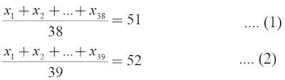 persamaan rumus rataan hitung