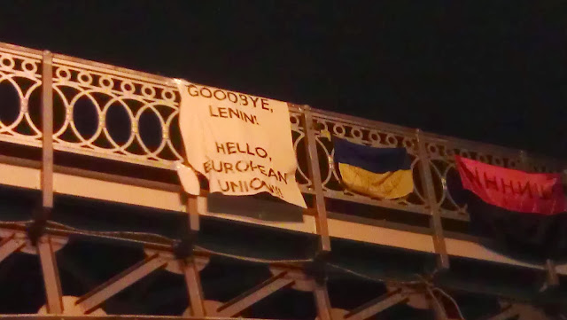 goodbye lenin, maidan, euromaidan, flag ukraine