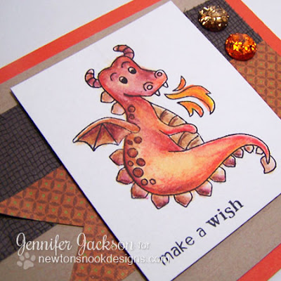 Dragon card using Magical Dreams Stamps from Newton's Nook Designs
