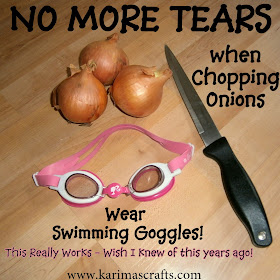 How To Cut Onions without crying - Goggles