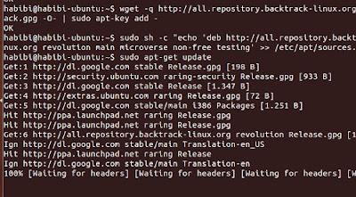 Install Aplikasi Backtrack di Ubuntu