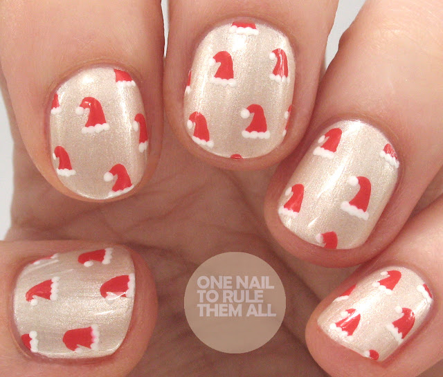 One Nail To Rule Them All Barry M Nail Art Pens Review: One Nail To Rule Them All: Pearly Santa Hats