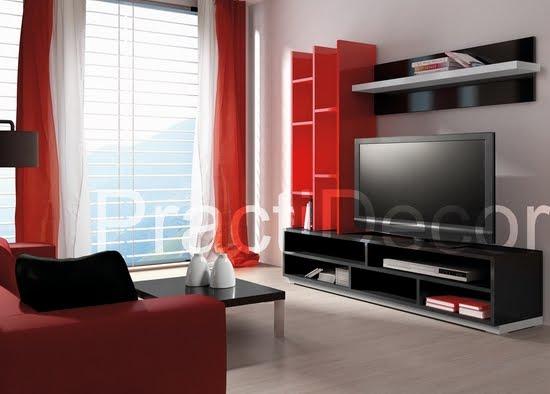 ideas de modelos de amoblamientos modulares para sala tv audio On muebles modulares para sala pequena