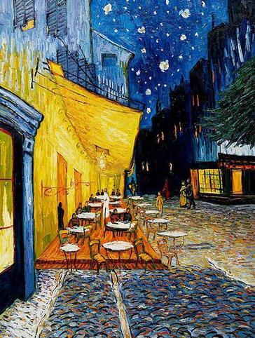 van gogh cafe terrace at night analysis