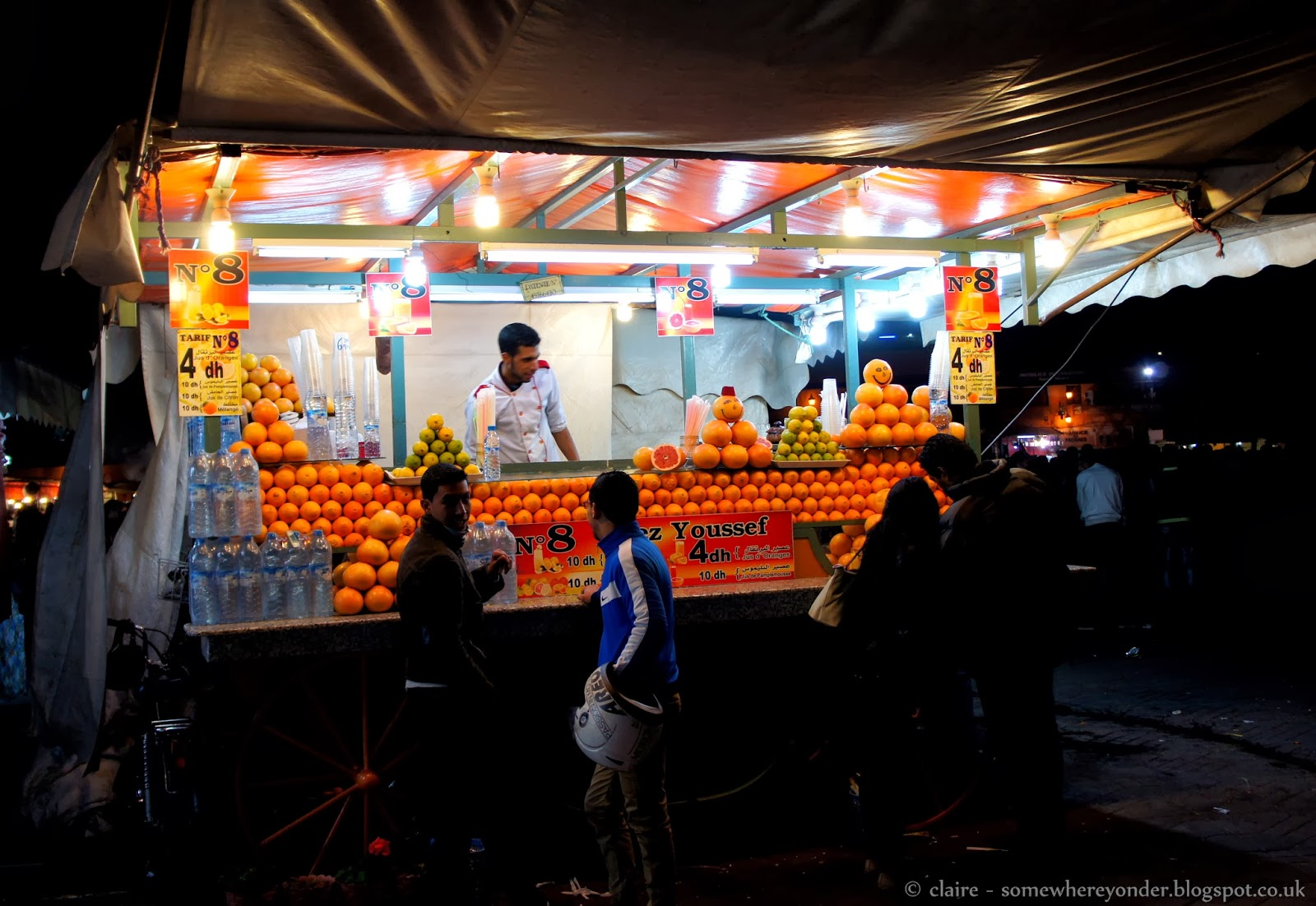 Orange juice stall - Djemaa El-Fna Marrakech