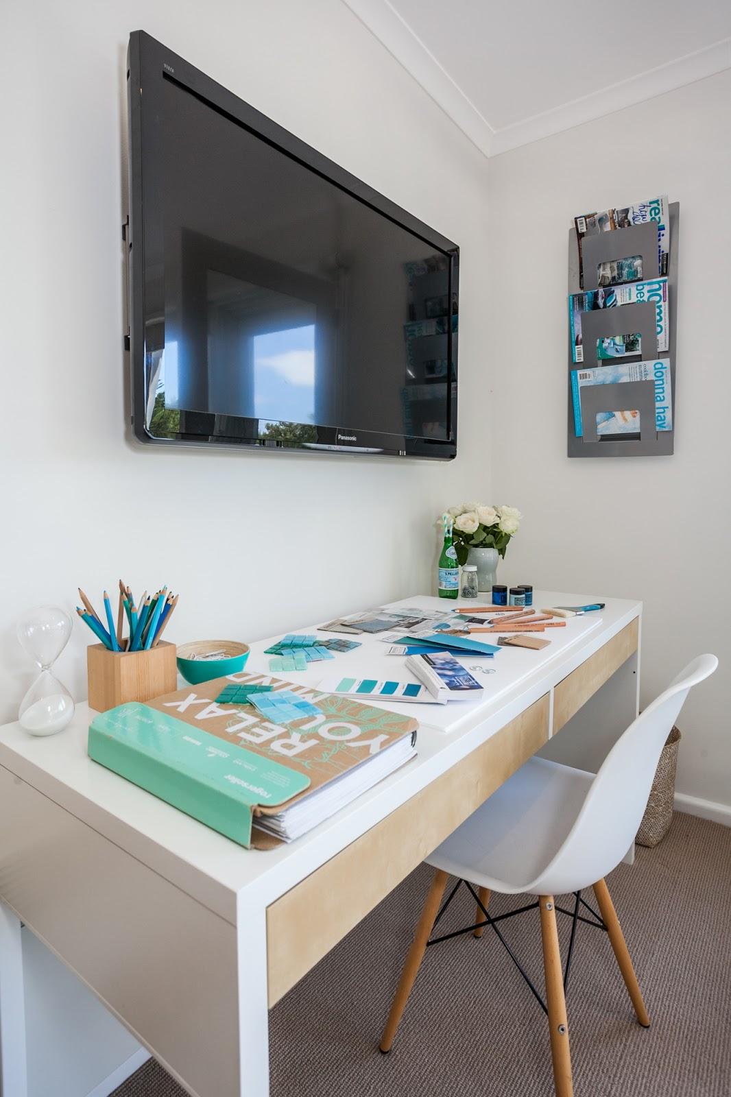My Office Studio on Flat Design Office Desk