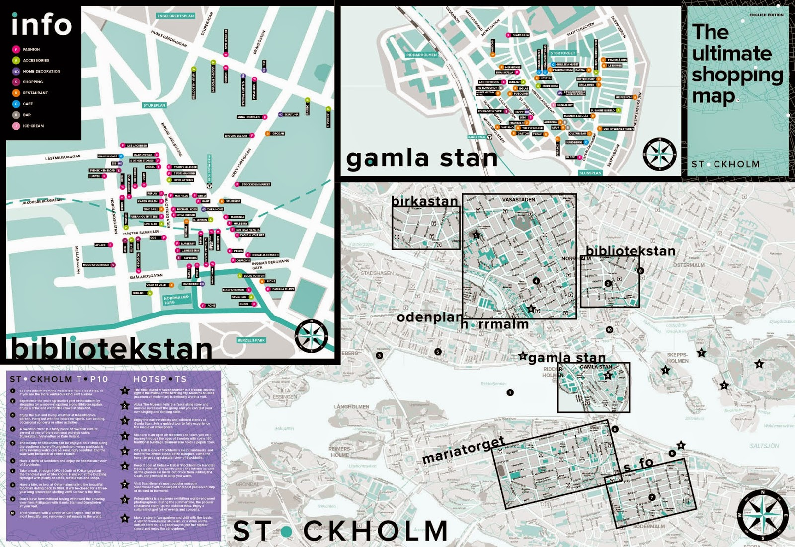 Theholm Tourist The Ultimate Shopping Map and Guide forholm – Stockholm Tourist Map