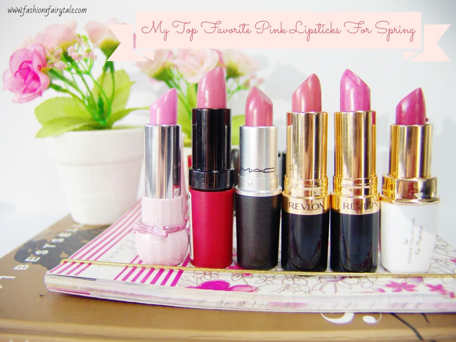 My Top Favorite Pink Lipsticks For Spring