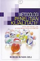 toko buku rahma: buku METODOLOGI PENELITIAN KUALITATIF, pengarang burhan bugin, penerbit raja grafindo persada