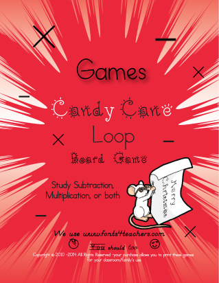 Free Candy Cane Math Game from CurrClick