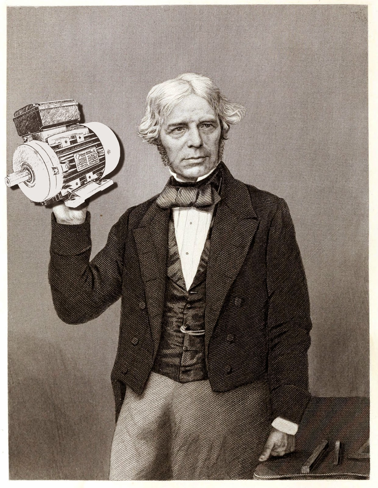 A brief history of electric motors the gibbons group for Michael faraday electric motor