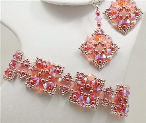 Alexandra Bracelet and Earrings