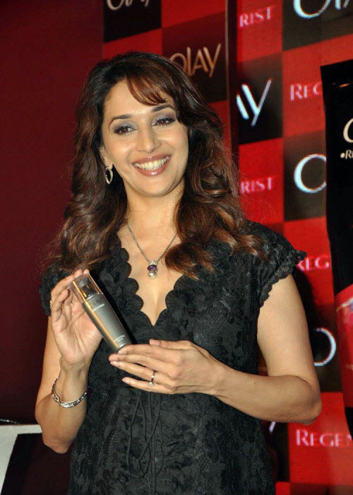 madhuri dixit in black event shoot photo gallery