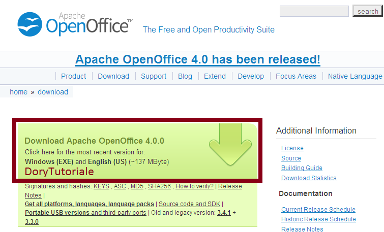 Apache openoffice official site - Open office free download for windows 8 ...