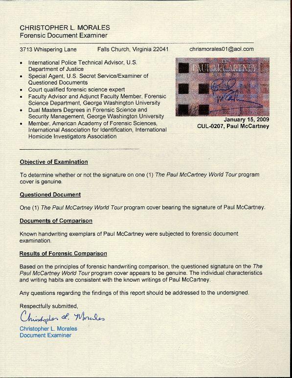 jsa authentication james spence paper authentic authenticity piece would authenticating agenda pushing memorabilia fails certified signature inc already pieces certificate