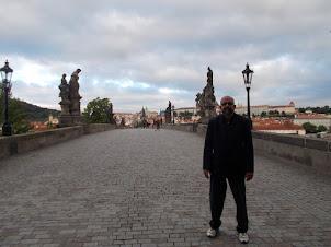 "On ""Charles Bridge"" in Prague."