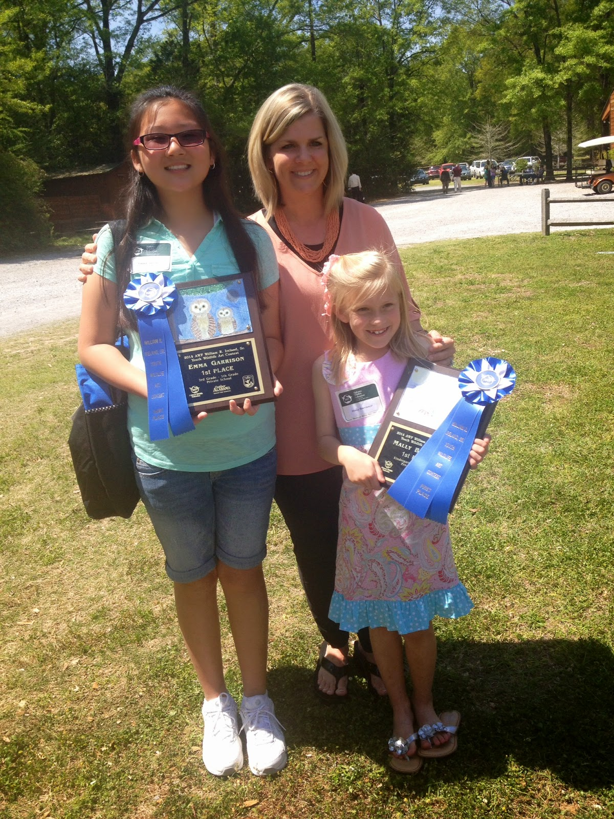 Two Montgomery Catholic Students Win First in AWF Art Contest 1