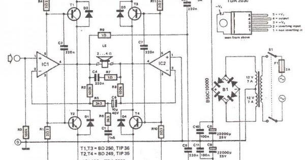 Wiring  U0026 Diagram Info  200 Watt Amplifier Wiring Diagram Schematic Using Tda2030