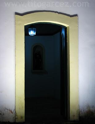 Uma das entradas da igreja de São Francisco, que dá acesso ao convento de Santa Cruz, em São Cristóvão - Sergipe