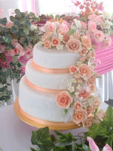STACKED WEDDING CAKE (FONDANT)