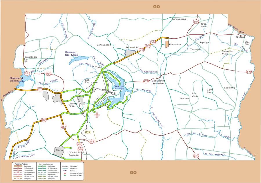 Mapas do Distrito Federal  MapasBlog