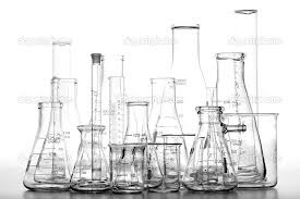 various beakers and flasks
