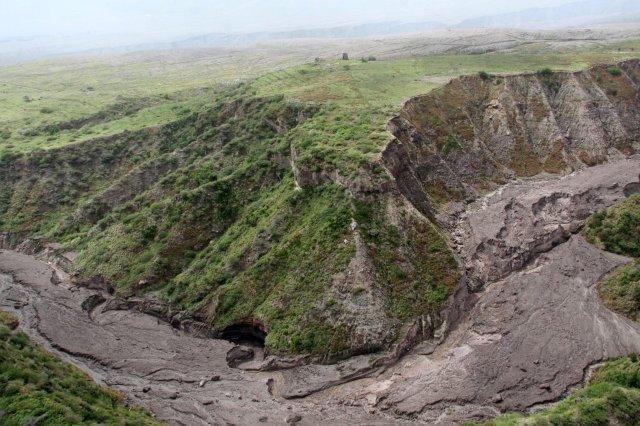 Volcan Souffriere Hills en la isla de Montserrat
